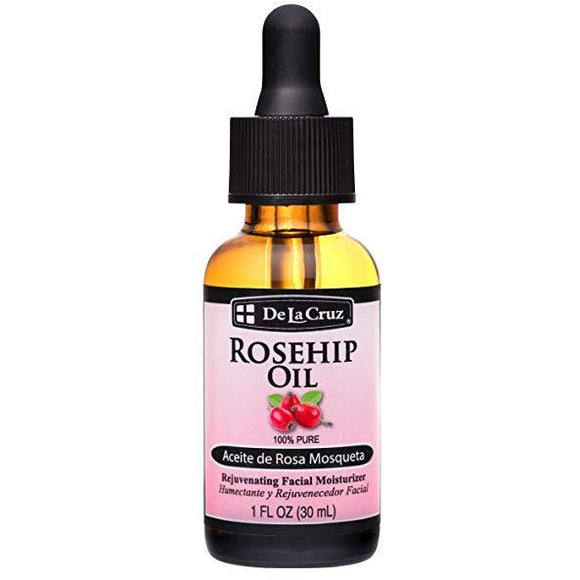 De La Cruz Pure Chilean Rosehip Oil, Cold Pressed, Bottled in USA, Facial Moisturizer, 1 FL. OZ