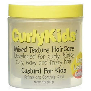 Curlykids Mixed Texture Haircare Custard For Kids, 6 Oz