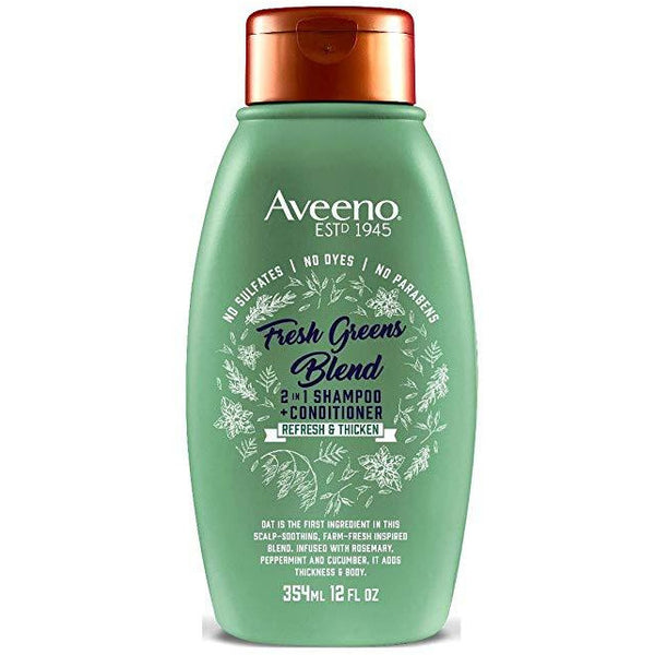 Aveeno Shampoo + Conditioner Fresh Greens Blend 2-In-1 12 Ounce (354ml)