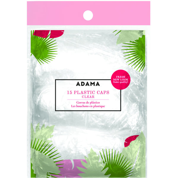 ADAMA Plastic Caps, 15 pack, Clear