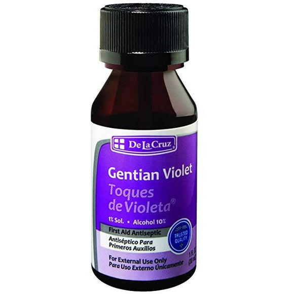 De La Cruz 1% Gentian Violet First Aid Antiseptic Liquid 1 FL OZ