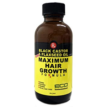 Eco Style Black Castor And Flaxseed Maximum Hair Growth Oil, 2 Ounce