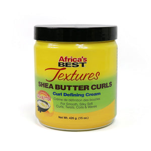 Africa's Best Textures Shea Butter Hair Curl Defining Crème, Reduces Frizzing, Seals And Repairs Hairs Split Ends, 15 Ounce Jar