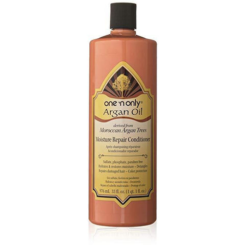 one 'n only Argan Oil Moisture Repair Conditioner Derived from Moroccan Argan Trees, 33 Ounce