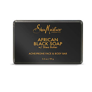 SheaMoisture African Black Soap Acne Prone Face & Body Bar 3.5 oz.