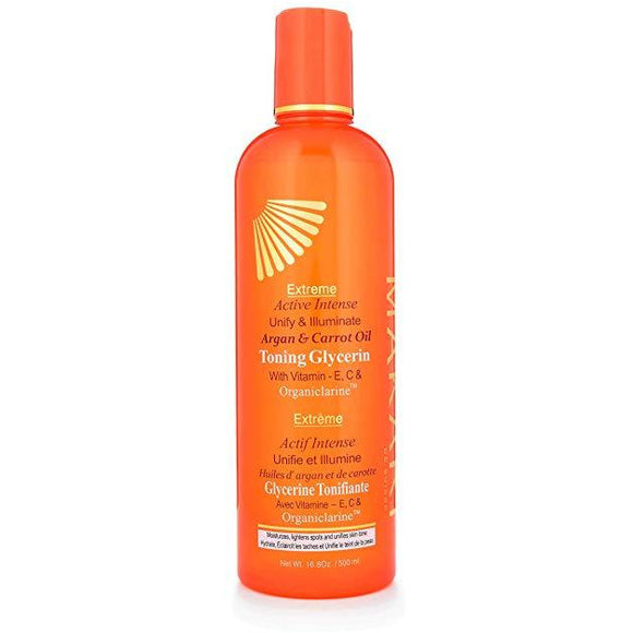 Makari Extreme Carrot & Argan Oil Skin Lightening Toning Body Glycerin 16.8Oz