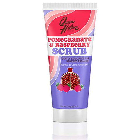 Queen Helene Facial Scrub, Pomegranate & Raspberry, 6 Ounce