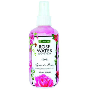 De La Cruz Rose Water Spray 8 FL. OZ.