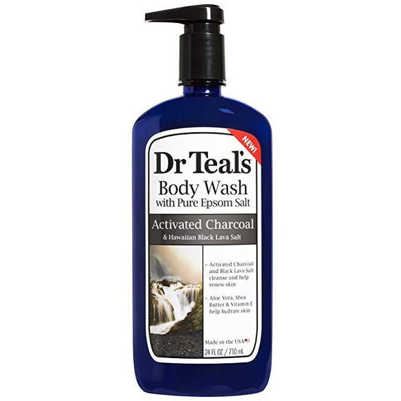 Dr Teal's Activated Charcoal & Lava Body Wash, 24 Oz