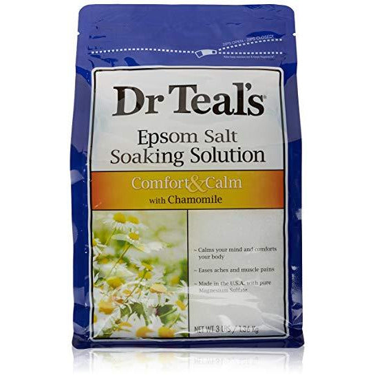 Dr Teal's Epsom Salt Soaking Solution, Chamomile, 3 Lb