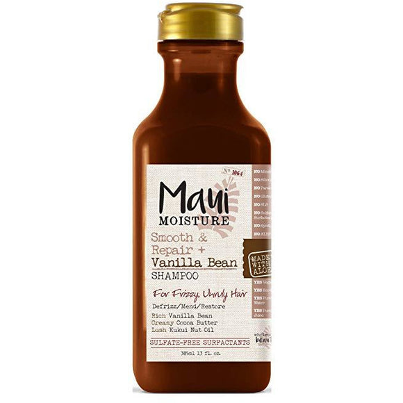 Maui Moisture Shampoo Vanilla Bean 13 Ounce (Smooth & Repair)