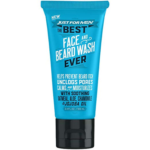 Just for Men The Best Face & Beard Wash Ever, 3.4 Fluid Ounce