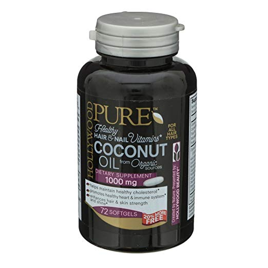 Hollywood Pure Healthy Hair & Nail Vitamins, Coconut Oil