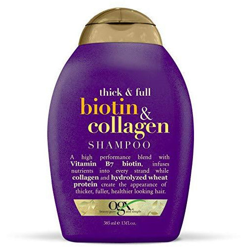 OGX Thick & Full + Biotin & Collagen Shampoo, 13 Ounce