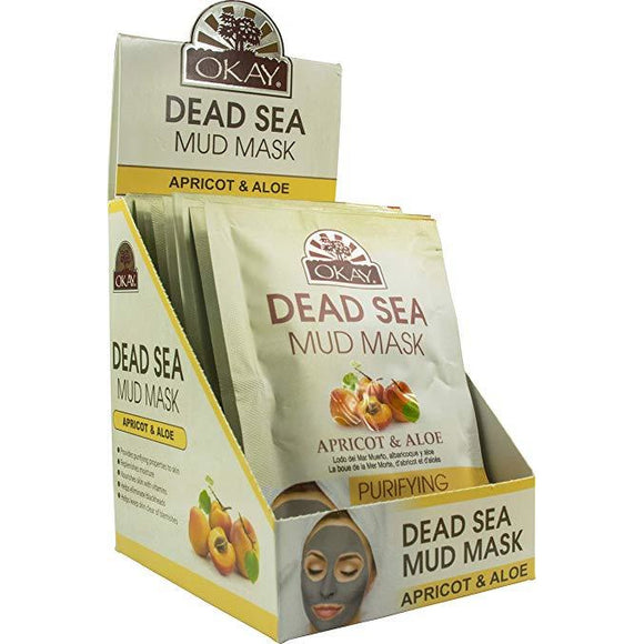 Okay Dead Sea Mud Mask, Apricot & Aloe (12 Pack)