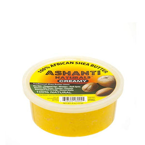 Ashanti Naturals 100% Chunky Natural African Shea Butter, Yellow, 8 Oz