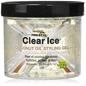 Ampro Clear Ice Coconut Oil Styling Gel, 32 Ounce