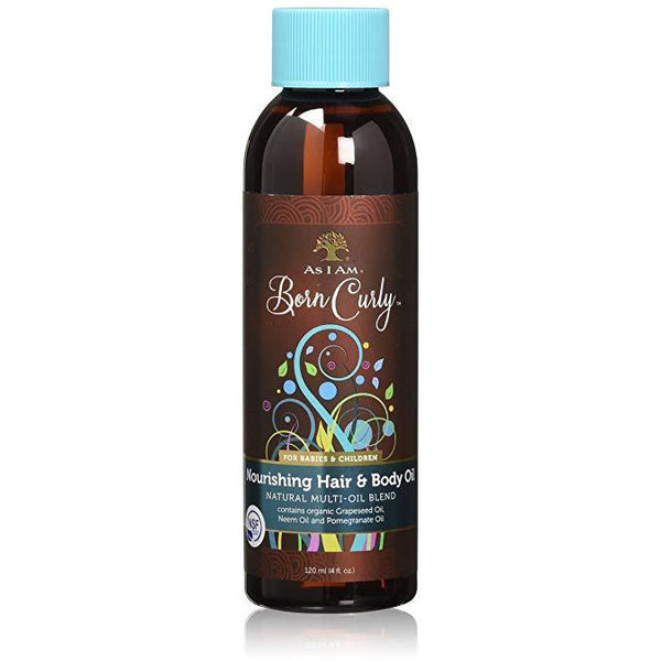 As I Am Born Curly Nourishing Hair & Body Oil, 4 Ounce