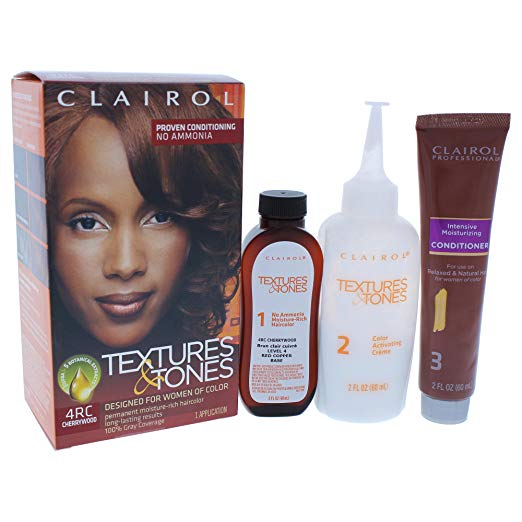 Clairol Professional Textures And Tones Permanent Hair Color, 4RC Cherrywood