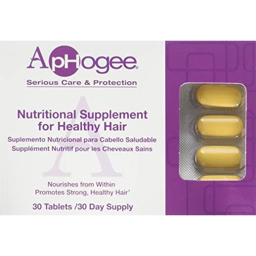 Aphogee Vitamin Supplement For Healthy Hair 30 Tablets
