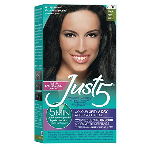 Just 5 Women's 5 Minute Permanent Hair Color 4105 Black