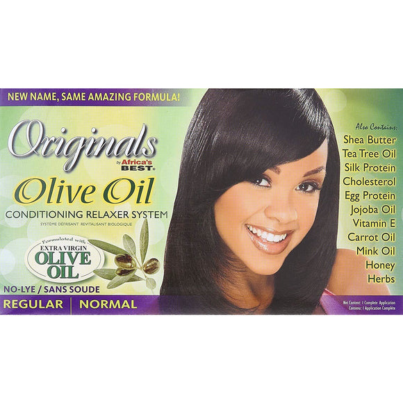 Africa's Best Originals Olive Oil Conditioning Relaxer System, No Lye - Regular/Normal