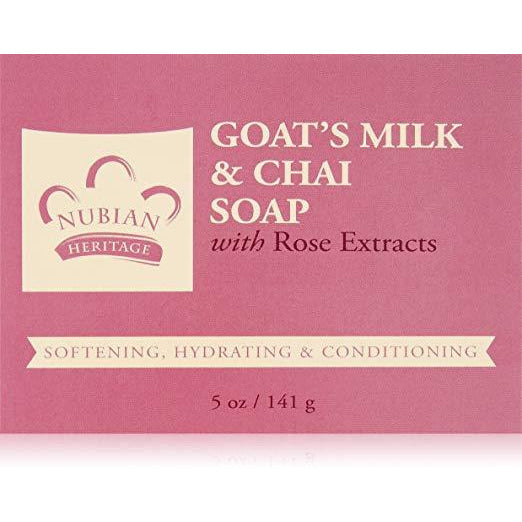 Nubian Heritage Goats Milk And Chai Soap Bar, 5 Oz