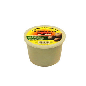 Ashanti Naturals Unrefined African Solid Shea Butter, White- 16 oz.