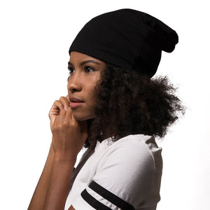Adama Satin Lined Beanie Black