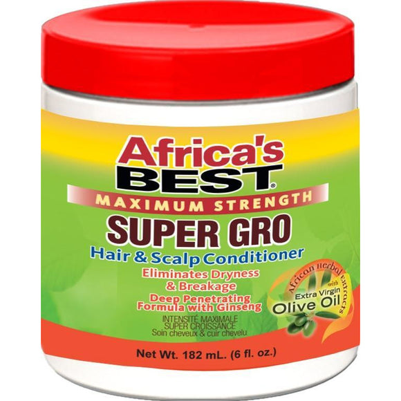 Africa's Best Maximum Strength Super Gro Hair & Scalp Conditioner, 5.25 Oz