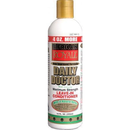African Royale Daily Doctor Maximum Strength Leave In Conditioner, 12 Ounce