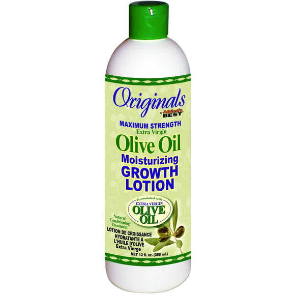 Africas Best Org Olive Oil Max Strength Growth Lotion - 12 Oz