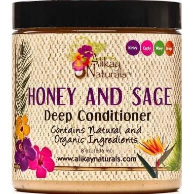 Alikay Naturals Honey And Sage Deep Conditioner, 8 Ounce