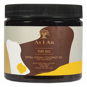 As I Am Pure Oils Extra Virgin Coconut Oil 15 oz