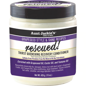 Aunt Jackie's Grapeseed Collection Rescued Thirst Quenching Recovery Conditioner 15 Oz