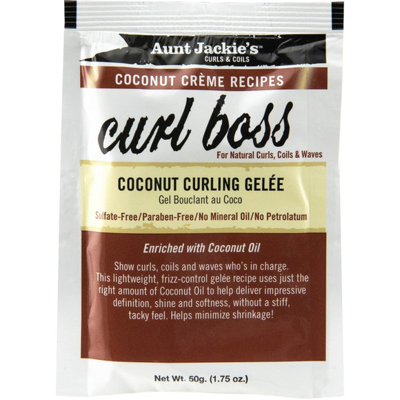 Aunt Jackie's Coconut Creme Recipes Curl Boss Coconut Curling Gelee 1.75 Oz (12 Pack)