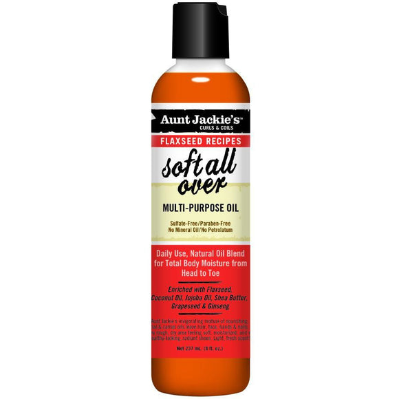 Aunt Jackie's Soft All Over Multi Purpose Oil - 8 Fl Oz