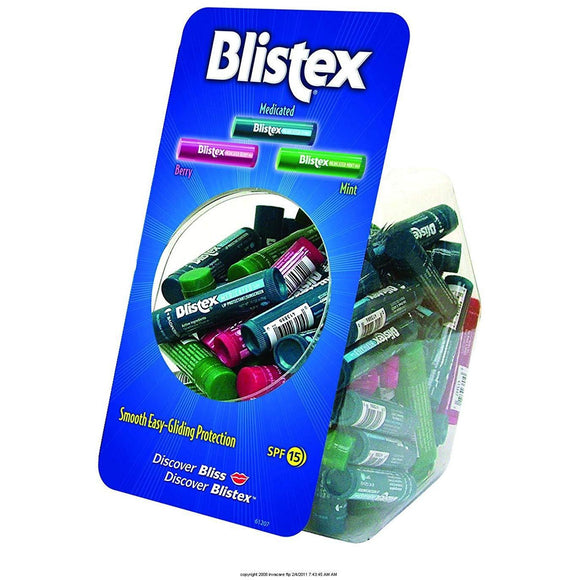 Blistex Assorted Lip Balm tube bowl case pack  72