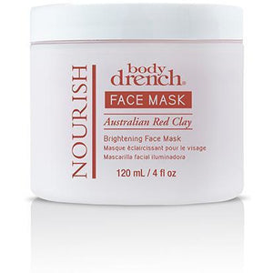 Body Drench Nourish Australian Red Clay Brightening Face Mask, 4 Oz