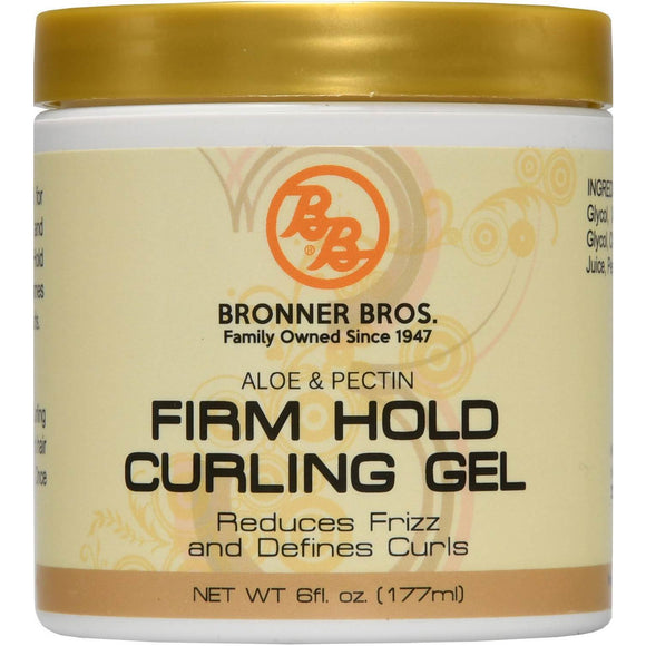 Bronner Bros Firm Hold Curling Gel 6 Oz