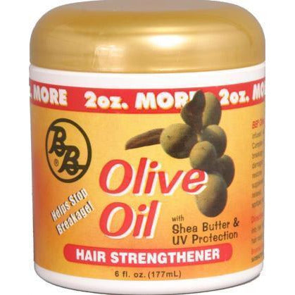 Bronner Brothers Olive Oil Hair Strengthener, 6 Ounce