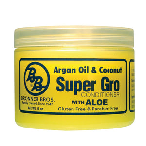 Bronner Brothers Super Gro Conditioner 6 Oz (Argan Oil & Coconut With Aloe)