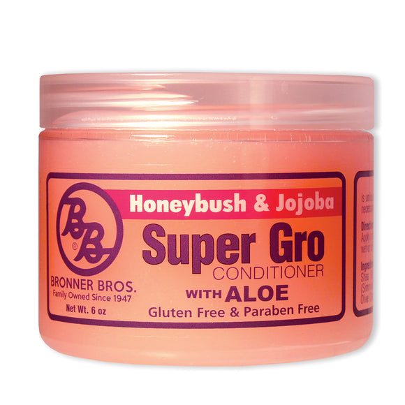Bronner Brothers Super Gro Conditioner 6 Oz (Honeybush & Jojoba With Aloe)