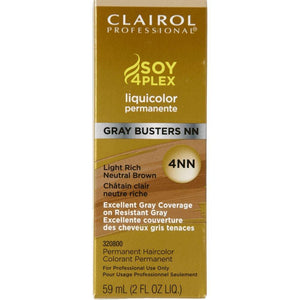 Clairol Professional Liquicolor, 4NN Gray Busters Light Rich Neutral Brown, 2 Ounce