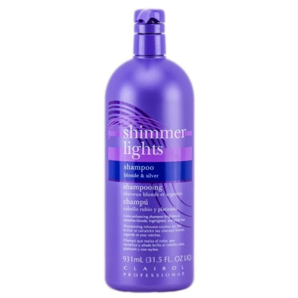 Clairol Professional Shimmer Lights Shampoo For Blonde & Silver Hair - 31.5 Oz
