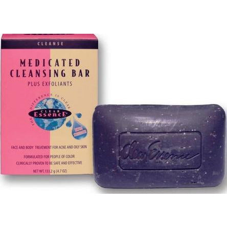 Clear Essence Platinum Line Extra Strength Medicated Cleansing Bar Plus Exfoliants 4.7 Oz