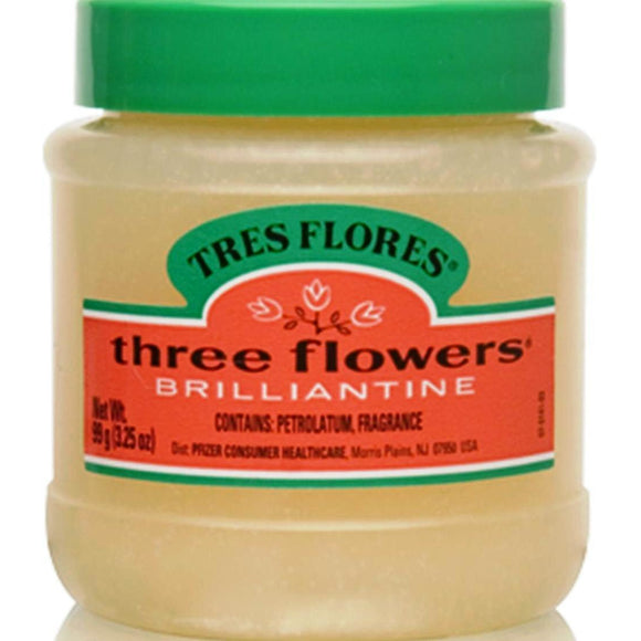 Clubman Three Flowers Brilliantine Pomade, 3.25 Oz