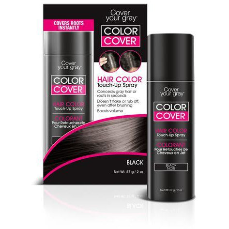 Cover Your Gray Color Cover Spray Black - Root Concealer And Hair Color Touch Up 2Oz
