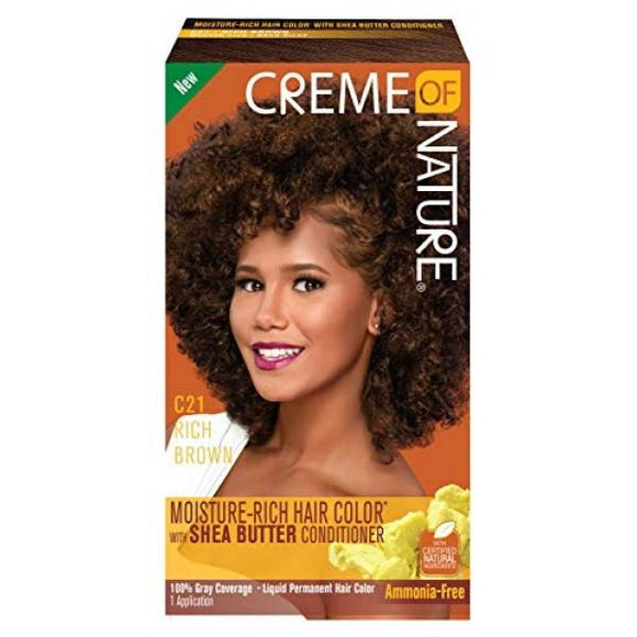 Creme Of Nature Color C21 Rich Brown