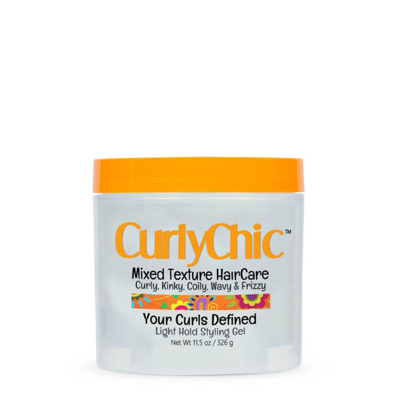 Curly Chic Mixed Texture Curls Defined Light Hold Styling Gel 11.5 oz